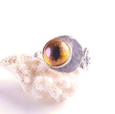 Sterling Silver Ring Spoon Ring Evil Eye Ring by DesignsBloom, $39.99