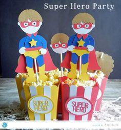 Super Hero Party Treat Boxes