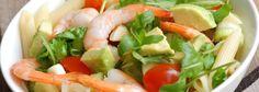 Recette Salade de pâtes froides, avocat, petites crevettes et mozzarella et encore plus de recettes sur www.ilgustoitaliano.fr