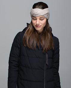 a0ffce00 Lululemon twisted bliss ear warmer Headbands For Women, Ear Warmers, Messy  Hairstyles, Athletic