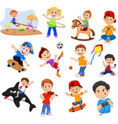 Cartoon kids with different hobbies on a white bac vector Little Girl Cartoon, Cartoon Kids, Happy Children's Day, Happy Kids, Children's Day Photos, Adult Children Quotes, Funny Cartoon Characters, Cartoon Turtle, Cute Kids Photography