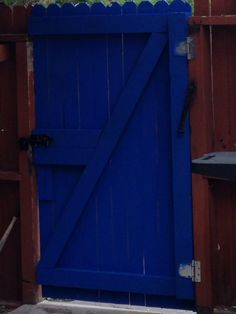 Deep Space-Valspar is the color for our gate! Turned out to be a perfect blue!