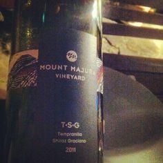 Mount Majura Vineyard Tempranillo Shiraz Graciano Camberra 2011 - April 2013 Sydney Magazine's featured wine. Sydney, Expensive Wine, Wine Fridge, Vineyard, Bottle, Wine Refrigerator, Flask, Jars
