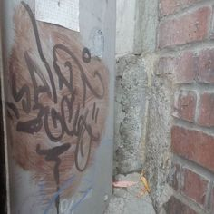#graff #graffiti #graffitiart #northvancouver #northvan #corner #brick #metal #saint #concrete