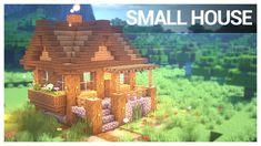 Minecraft Starter House, Minecraft Small House, Casa Medieval Minecraft, Minecraft House Plans, Minecraft Houses Survival, Cute Minecraft Houses, Minecraft House Tutorials, Minecraft House Designs, Amazing Minecraft