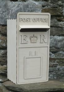 Flatpack wooden Wedding Postbox, easy to assemble,