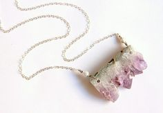 amethyst slice necklace -love!