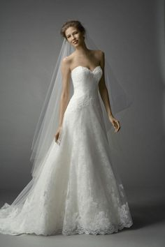 To see more gorgeous Watters wedding dresses: http://www.modwedding.com/2014/11/12/editors-pick-best-watters-wedding-dresses/ #wedding #weddings #wedding_dresses