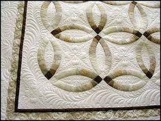 Double Wedding Ring Quilt - Interesting color pallet.  I've always wanted this quilt