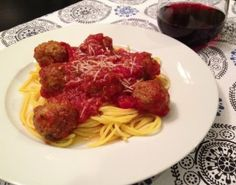 Grass Fed Beef and Quinoa Meatballs with Pasta