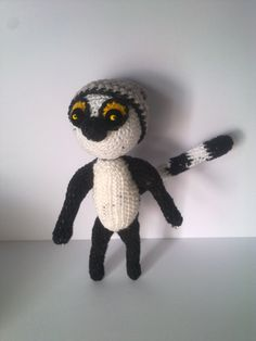Lalek-lemur // Lemur doll  #knit #crochet #doll  #handmade #gift #gifts #lemur #teddy #kids