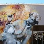 Murals of Greek Gods Rendered Against a Chaotic Backdrop of Graffiti by Pichi