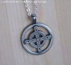 CELTIC UNITY CROSS Silver Pewter Amulet by ArtisanWitchcrafts, $16.95