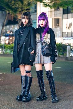 The Best Street Style From Tokyo Fashion Week Spring 2019 - Vogue Grunge Street Style, Mode Grunge, Best Street Style, Asian Street Style, Tokyo Street Style, Street Style Women, Street Styles, Tokyo Style, Korean Style