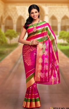 c109561fb1 Rich Feel Soft Silk Saree 1004 Pink Half Sarees, Handloom Weaving, Half  Saree Designs