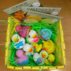 Image detail for -Easter Basket contains: 4 Mini Easter Rubber Ducks 4 Mini Easter Sheep ...