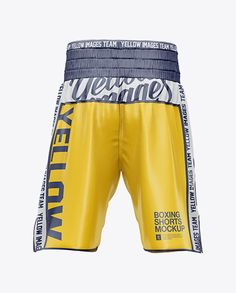 Download Two Panel Boxing Shorts Mockup Back View In Apparel Mockups On Yellow Images Object Mockups Boxing Shorts Clothing Mockup Mockup Psd