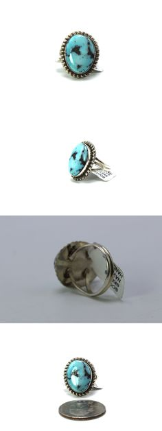 Pins Brooches 98499: Navajo Handmade Kingman Turquoise Sterling Silver Ring Size 6-Scott Skeets -> BUY IT NOW ONLY: $35 on eBay!