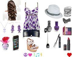 """Crazy Purple :)"" by snowdonj on Polyvore"