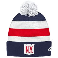 Men s New York Rangers adidas Navy 2018 Winter Classic Players Cuffed Pom  Knit Hat 2aad7fbf0