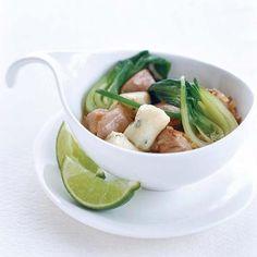 Thai Chicken Stew with Potato-Chive Dumplings