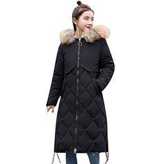 ALIKEEY Veste en Coton pour Manteau Femme Hiver Femmes Hiver Chaud Manteau  Fausse Fourrure À Capuche 7bbf57d4212