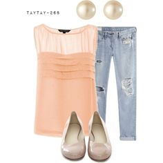 peach by taytay-268 on Polyvore