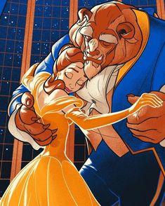 Beauty and the beast disney pixar, disney fan art, walt disney, disney magic Disney Fan Art, Film Disney, Disney Love, Disney Couples, Disney Magic, Disney Amor, Disney Animation, Beauty And The Beast Art, Beauty Beast