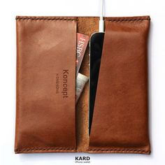 KARD wallet for iPhone 5 / 4 Chocolate brown por KonceptHK en Etsy, $49.00