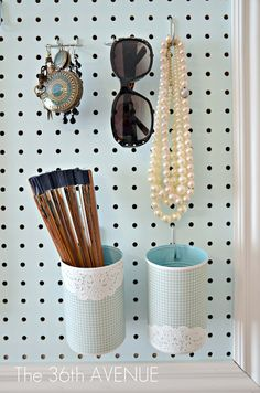 The 36th AVENUE   Peg Board and Accessories Station