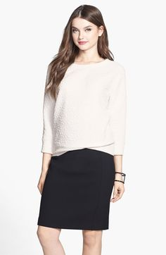 Halogen® Rosette Detail Sweatshirt (Regular & Petite) available at #Nordstrom