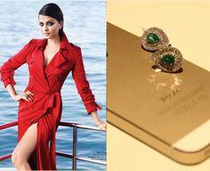 Wear jewel tones to look like a beauty queen a la Aishwarya Rai. Red coat + our emerald and diamond earrings = sensual elegance!