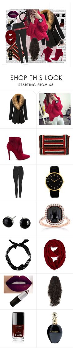 """Untitled #9"" by sejla-berbic ❤ liked on Polyvore featuring beauty, Qimi, Rachel Comey, Topshop, Larsson & Jennings, Kobelli, Chanel, Roberto Cavalli and Dolce&Gabbana"