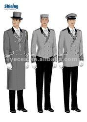 arabic hotel uniform - Google Search Security Uniforms, Staff Uniforms, Uniform Shirts, Men In Uniform, Lobby Boy, Hotel Uniform, Cigarette Girl, Horror Costume, Horror House