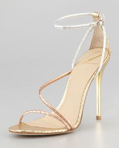 Labrea Hologram Snake Sandal by B Brian Atwood at Neiman Marcus.