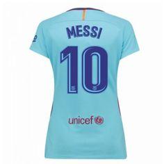 Barcelona Lionel Messi 10 kläder Kvinnor 17-18 Bortatröja Kortärmad  #Billiga #fotbollströjor