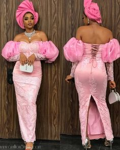 Vol 46 C: Presenting Top New Aso-Ebi Bella Style Worn Last Week – fashion Modern African Print Dresses, African Wear Dresses, Latest African Fashion Dresses, African Inspired Fashion, African Print Fashion, African Attire, Africa Fashion, Nigerian Lace Styles Dress, Aso Ebi Lace Styles