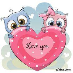 Cute Cartoon Owl - 7 EPS