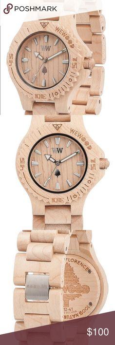 18b484fd3b41c4 WeWood Watch Date in beige. Brand new in box Date WeWood Watch in beige.