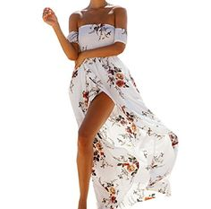 Zimaes-Women Zimaes Women Tube Top Floral Print Beach Long Dress Sundress