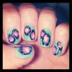 Ikat nail polish design #ikat #nailpolish #naildesign #nails