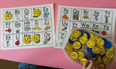 Rockabye Butterfly: Alphabet Review- tons of ideas for alphabet review