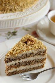 ...konyhán innen - kerten túl...: Diótorta Hungarian Desserts, Hungarian Recipes, Cookie Recipes, Dessert Recipes, Sweet Desserts, Cake Designs, Oreo, Cupcake Cakes, Bakery