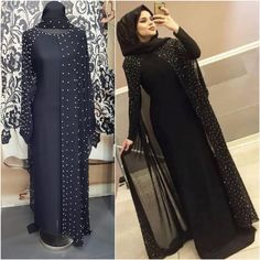 For order and enquiries please send us a DM,or COMMENT Below Mode Niqab, Abaya Mode, Hijab Dress Party, Hijab Style Dress, Indian Designer Outfits, Designer Dresses, Abaya Designs Dubai, Habits Musulmans, Cardigan Style