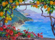 Under The Amalfi Lemons By Mikki Senkarik