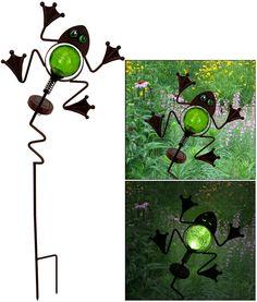 Frog Wobbler Solar Garden Stake at The Animal Rescue Site