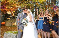 Fall wedding picture idea