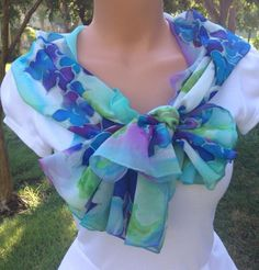 Items similar to Hydrangea of Blue on Etsy Chiffon Shawl, Silk Chiffon, Hydrangea Colors, Butterfly Kisses, Green Silk, Silk Painting, Floral Bouquets, My Favorite Color, Special Gifts