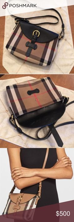 "Burberry ""horseshoe Milton"" crossbody In new condition!! Only carried once!  Dimensions 9""w x 6.5""h x 2""d 20.5-21.5 in strap drop. Burberry Bags Crossbody Bags"