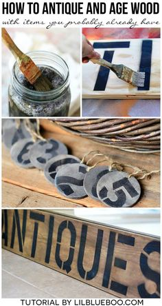 How to Antique and Age Wood Instantly for a Weathered Look - Lil Blue Boo